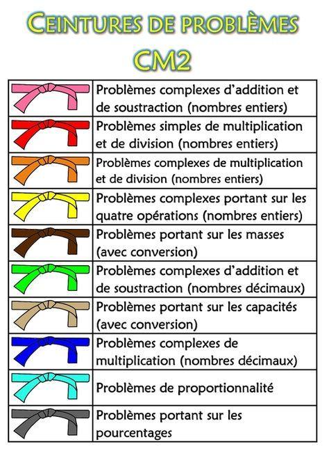 prix abordable Royaume-Uni 100% de satisfaction Ceintures de problèmes CM2   Grammaire   Problème cm1, Maths ...