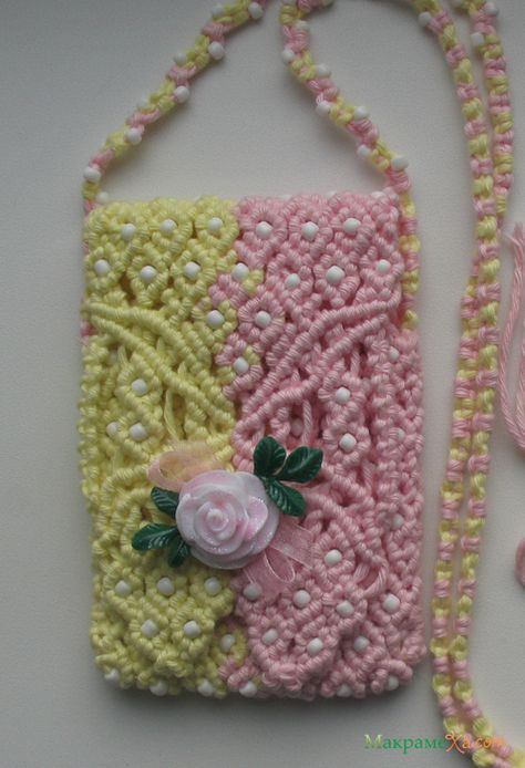 Macrame Purse Patterns Free : Beaded bracelet pattern macrame tutorial pdf green pink Xmas gift how ...