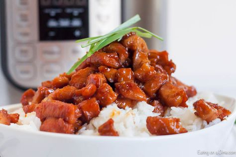 Instant Pot Honey Bourbon Chicken Recipe