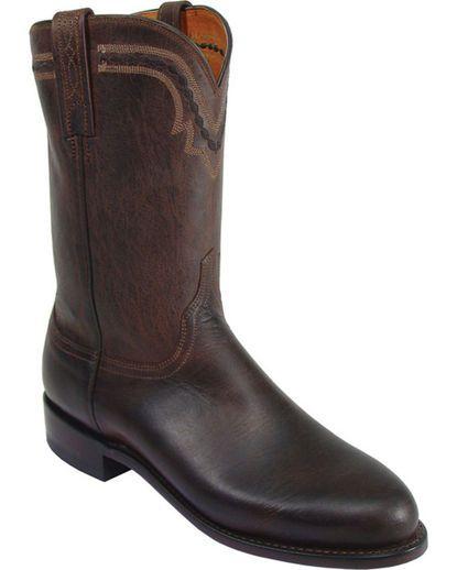 Men's Mad Dog  Chocolate Burnished Goat C Toe Cowboy Boots