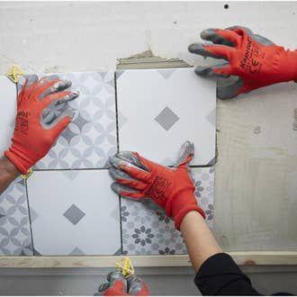 Decor Mur Et Sol Blanc Et Gris Mat L 20 X L 20 Cm Deco Mix En 2020 Parement Mural Carrelage Mural Et Sol Carreaux De Ciment