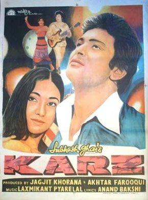 Karz 1980 Hindi In Hd Einthusan Hindi Movies Online Bollywood Posters Hindi Movies