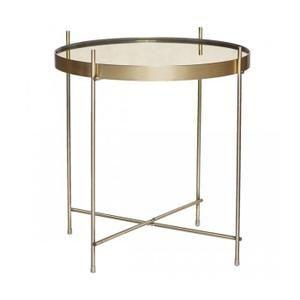 Table Basse Table Basse Ronde En Metal Dore Et Miroir O43cm 4 Table Basse Table Basse Verre
