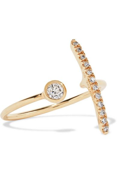 Hirotaka 10 Karat Gold Diamond Ring Gold Diamond Rings Diamond Studs