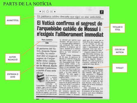 Resultado De Imagen De Estructura De La Noticia En Català