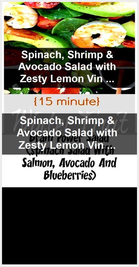 Spinach, Shrimp & Avocado Salad with Zesty Lemon Vinaigrette,  #Avocado #Lemon #Salad #Shrimp...,  #Avocado #Lemon #Salad #Shrimp #Spinach #Vinaigrette #Zesty
