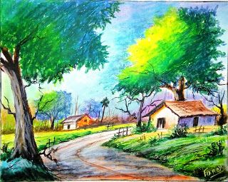 Fancy S Art Scenery Drawing With Oil Pastels For Beginners S