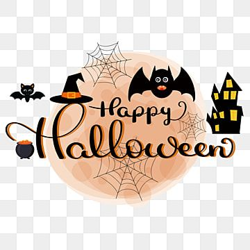 Happy Halloween Text Hand Lettering With Elements Happy Halloween Happy Halloween Png And Vector With Transparent Background For Free Download Halloween Calligraphy Halloween Text Happy Halloween