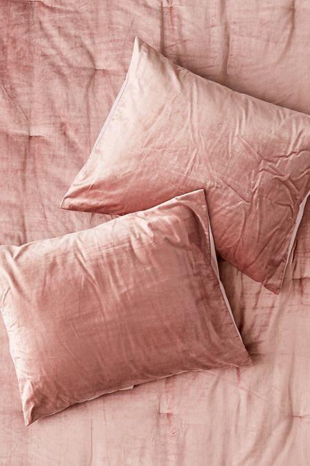 Rita Cozy Corduroy Sham Set Velvet Comforter Dusty Pink Bedding Duvet Covers Urban Outfitters