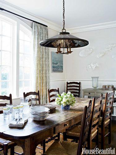 A Youthful Tudor House Rustic Dining, Urban Farmhouse Dining Room Light