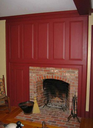 Classic Colonial Homes Interior Cape Fireplace