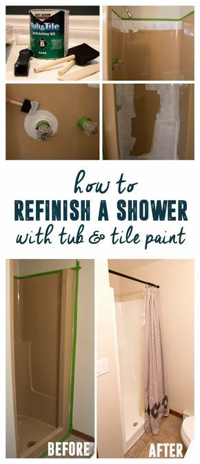 How To Use Tub And Tile Paint Refinish A Shower
