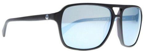 NEW Dragon Passport Black Mens Square Navigator Acetate Sunglasses Msrp$100