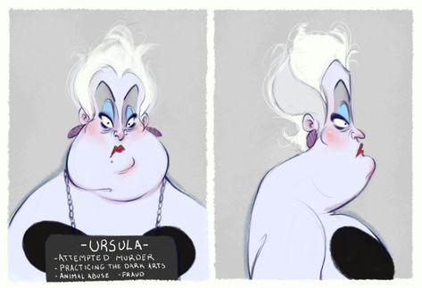 Villain Mugshots Ursula by HaaappyAccidents on Etsy