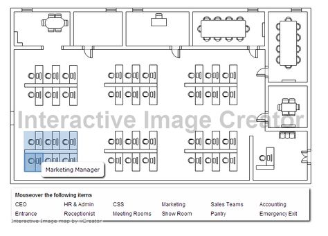 Interactive Floor Plan for Car Exhibition Dynamic Images - evacuation plan template