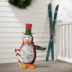 Snowman With Mistletoe Top Hat Scarf And Buttons Lighted Display Outdoor Christmas Decorations Light Display The Holiday Aisle