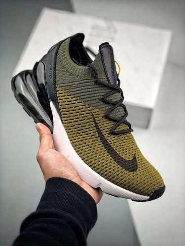 Nike Air Max 270 Knit Olive Green A01023 300 Men Shoes