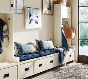 Wade Entryway Bench Small Almond White Muebles De Entrada Decoracion Hogar Y Decoraciones De Casa