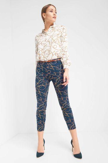 Hose Mit Muster Hosen Modestil Knochellange Hosen