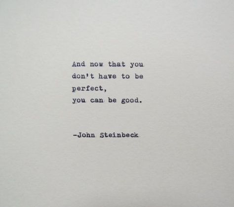 John Steinbeck East of Eden Quote Made on Typewriter