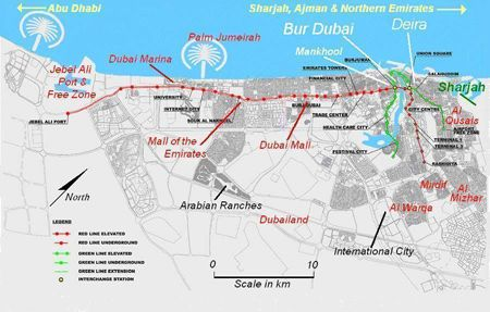 Map of Dubai United Arab Emirates UAE  UAE  Dubai  Pinterest