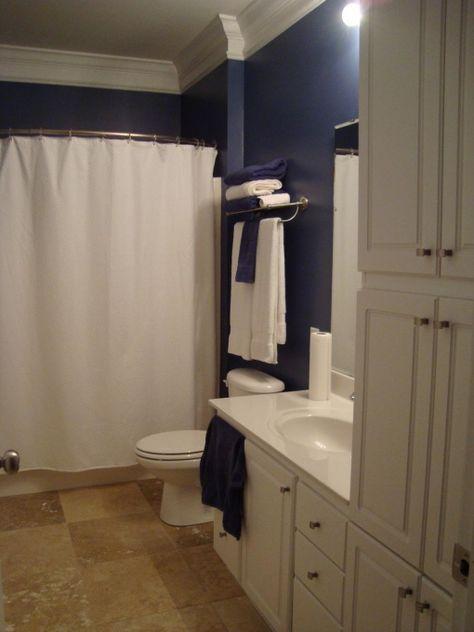 Dark blue bathroom - 1 #darkbluebathroom #bathroom