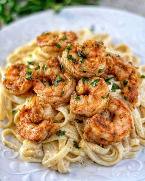 Cajun Shrimp Fettuccine Alfredo Recipe - Coop Can Cook