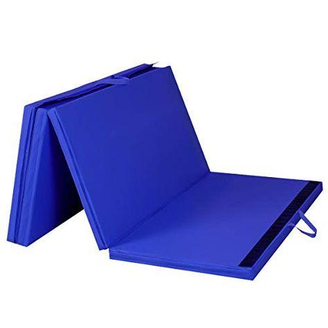 Giantex 4 X8 X2 Gymnastics Mat Folding Pu Panel Gym Fitness Exercise