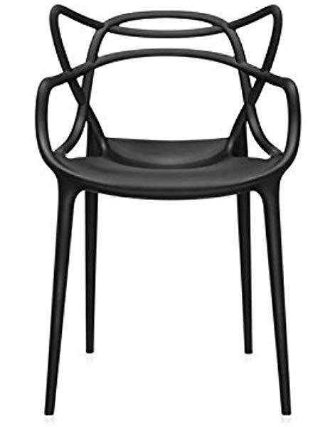 Kartell Masters Chaise Lot De 4 Noir Chaise De Salle A Manger Chaises De Salle A Manger Noires Chaise Masters