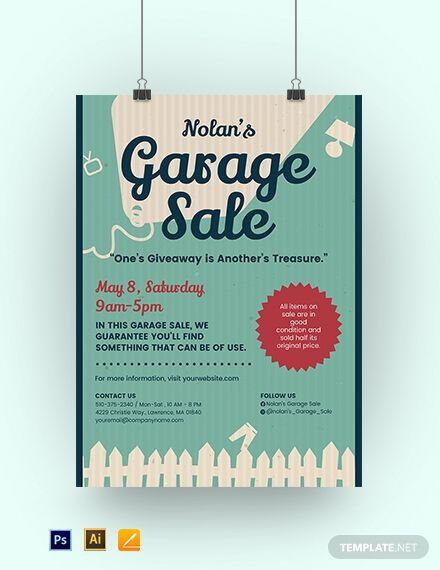 Garage Sale Poster Template Psd Apple Mac Pages Illustrator Sale Poster Poster Template Flyer Template