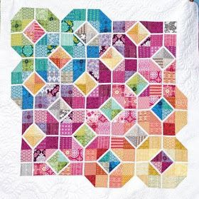 Quilt Inspiration: Free pattern day! Stained Glass quilts #quilting #sewing #art #design #craft #fabric #pattern #hexagonal #geometric