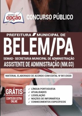 Apostila Prefeitura De Belem Pa Semad 2020 Assistente De