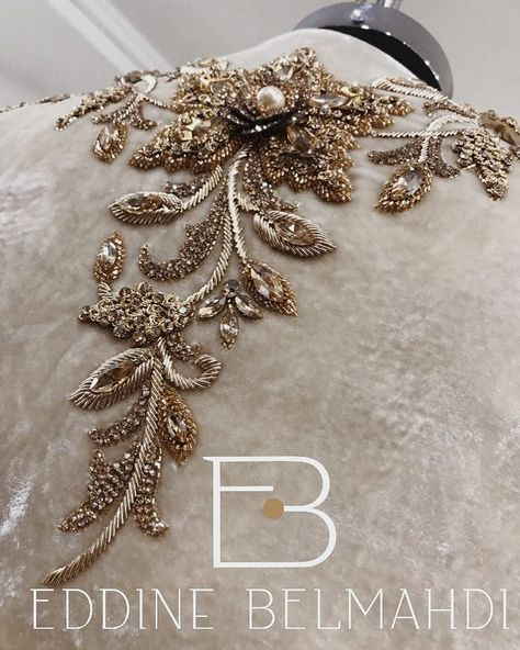 @eddine_belmahdi - • L'O R N E M E N T • #detail #handmade #hautecouture #fashion #paris #alger #oran #dubai #beirut #milan #eddinebelmahdi #karakou #savoirfaire - #regrann