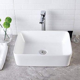 Matrix Decor White Ceramic Vessel Rectangular Bathroom Sink 19 8 In X 15 8 In Lowes Com Rectangular Sink Bathroom Sink Rectangular Vessel Sink