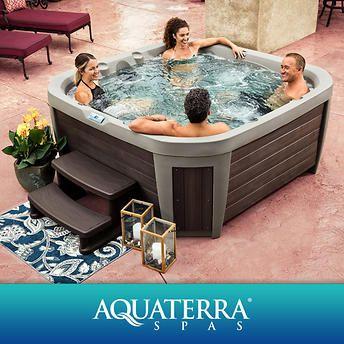 Aquaterra Spas Maderas 45 Jet 5 Or 6 Person Spa Hot Tub Hot Tub Backyard Decks Around Pools