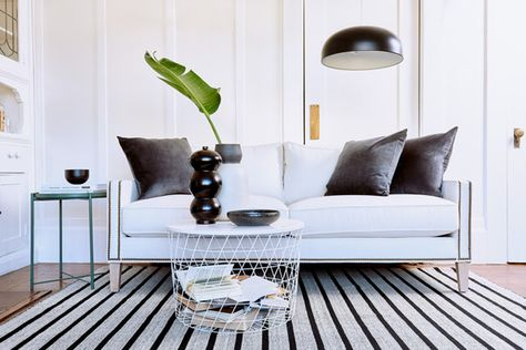 Look 2: So Sleek - We Styled A Couch In 3 VERY Different Ways - Photos