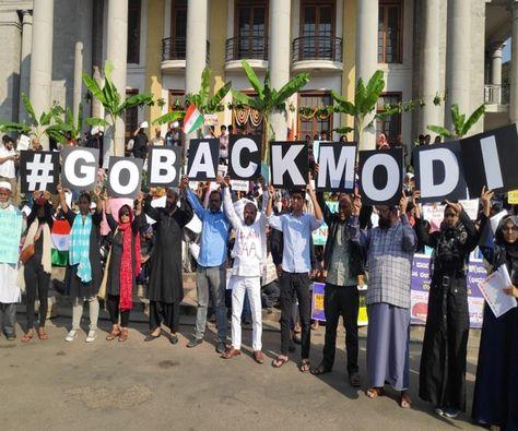 After Kerala and Tamil Nadu, 'Go Back Modi' accompanies PM on 2-day K'taka visit
