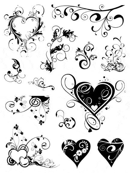 Latest Swirl Heart Tattoos designs