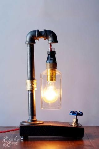 Southern Inspired Home Decor Bourbon And Boots Bottle Lights Bottle Lamp Industrial Table Lamp