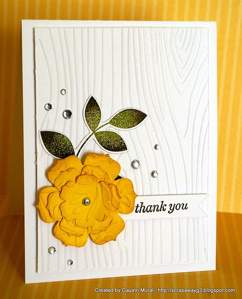 Love the flower and the embossing