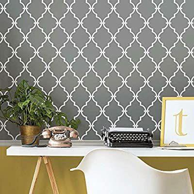 Amazon Com Roommates Modern Trellis Peel And Stick Wallpaper Black Home Improvement Modern Trellis Peel And Stick Wallpaper Room Visualizer