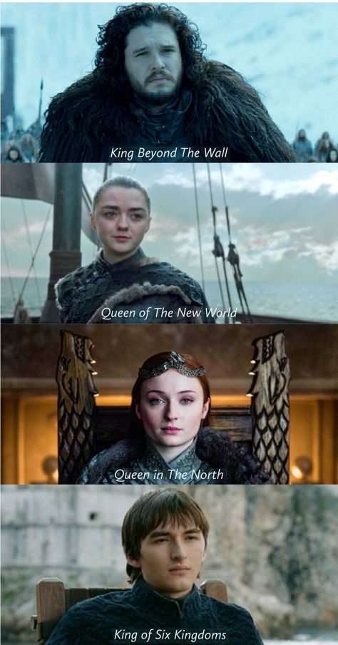 The Pack survives. Episode 6, Season 8, Game of Thrones.