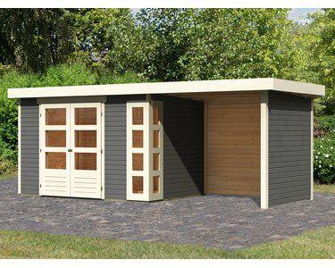 Karibu Holz Gartenhaus Solve 4 Terragrau Bxt 522 X 213 Davon 224 Cm Anbaudach Kaufen Bei Obi Karibu Gartenhaus Gartenhaus Haus
