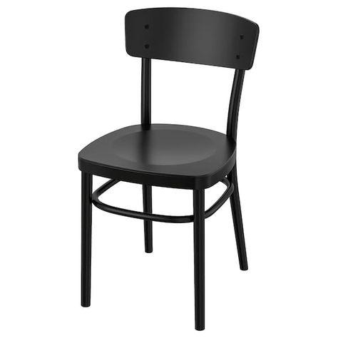 Sedie Pieghevoli Legno Ikea.Idolf Chair Black Sedia Ikea Sedia Comoda E Impiallacciatura
