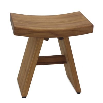 Haven Asia Teak Stool Teak Shower Stool Spa Inspired Bathroom
