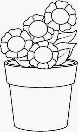 Maestra De Infantil Plantas Y Flores Para Colorear Igual Que Un Modelo Dibujos Para Pl En 2020 Dibujos De Macetas Dibujos Para Pintar Paginas Para Colorear De Flores