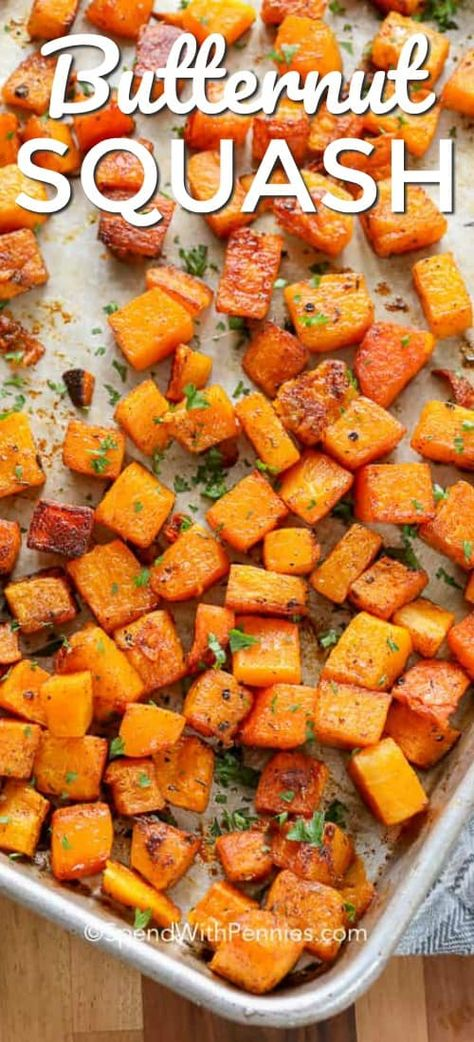Roasted Butternut Squash - Spend With Pennies