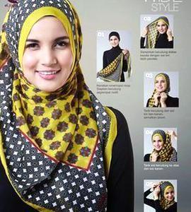 Tutorial Hijab Segi Empat Motif Simple Cara Lif Co Id