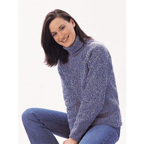 953a07e90b4f42 Mary Maxim - Free Turtleneck Sweater Pattern - Free Patterns - Patterns    Books