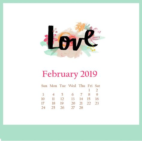 Cute February 2019 Desktop Wallpaper